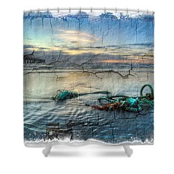 Sea Knot Shower Curtain by Debra and Dave Vanderlaan