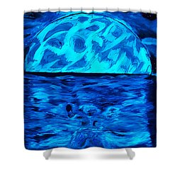 Sea Of Troubles Black Light Shower Curtain by Lisa Brandel