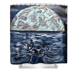 Sea Of Troubles Shower Curtain by Lisa Brandel