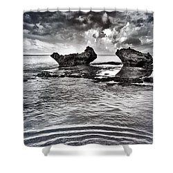Sea Ripples Shower Curtain by Stelios Kleanthous