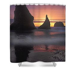Sea Stacks Off The Oregon Coast Shower Curtain by Dave Mills