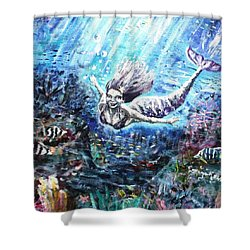 Shower Curtain featuring the painting Sea Surrender by Shana Rowe Jackson