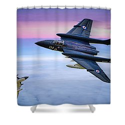 Sea Vixens At Play Shower Curtain by Chris Lord