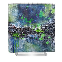 Shower Curtain featuring the painting Sea World by Nicole Nadeau