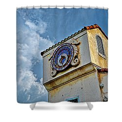 Seahorse Clock Shower Curtain by Christopher Holmes