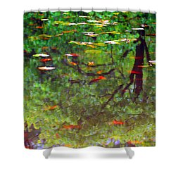 Seasons Reflect Shower Curtain by Karol Livote