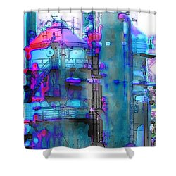 Seattle Gas Tower 2 Shower Curtain
