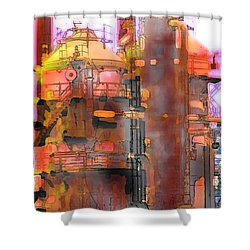 Seattle Gas Tower Shower Curtain