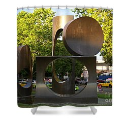 Shower Curtain featuring the photograph Seattle Sculpture by Chalet Roome-Rigdon