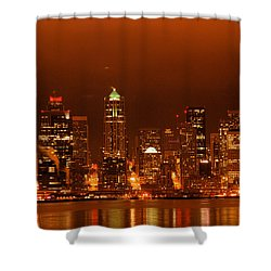 Seattle Skyline Shower Curtain