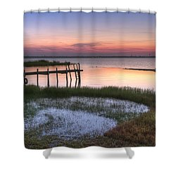 Sebring Sunrise Shower Curtain by Debra and Dave Vanderlaan