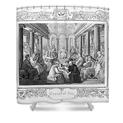 Second Council Of Nicaea Shower Curtain by Granger
