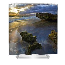 Secret Cove Shower Curtain by Debra and Dave Vanderlaan