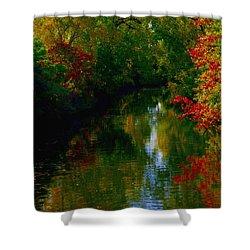 Secret Horse Creek Shower Curtain by Contemporary Luxury Fine Art