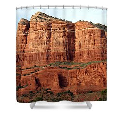 Shower Curtain featuring the photograph Sedona Red by Debbie Hart