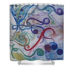 Seedpods In A Breeze Shower Curtain by Claudia Smaletz
