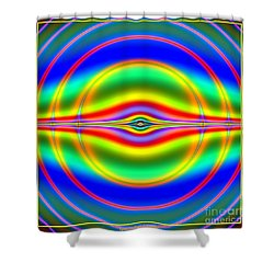 Seeing In Fluorescent Neon Fractal 135 Shower Curtain by Rose Santuci-Sofranko