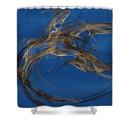 Shower Curtain featuring the digital art Selbstvertrauen by Jeff Iverson