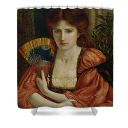 Self Portrait Shower Curtain by MS Stillman