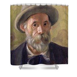Self Portrait Shower Curtain by Pierre Auguste Renoir