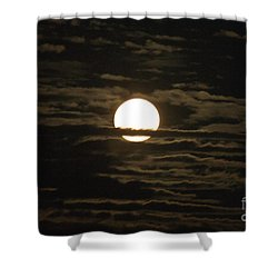 Shower Curtain featuring the photograph Seneca Lake Moon by William Norton