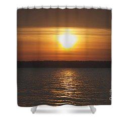 Shower Curtain featuring the photograph Seneca Lake Sunrise by William Norton