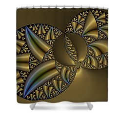 Shower Curtain featuring the digital art Senza Fine by Manny Lorenzo