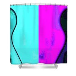 Separation Shower Curtain by Stelios Kleanthous