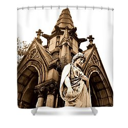 Sepia - Forrest Lawn Cemetery - Buffalo New York Shower Curtain
