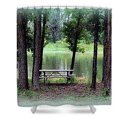 Shower Curtain featuring the photograph Serene Escape by Kathy  White