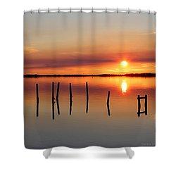 Serene Sound Shower Curtain