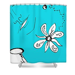 Serenity In Blue Shower Curtain by Mary Mikawoz