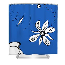 Serenity In Indigo Shower Curtain by Mary Mikawoz