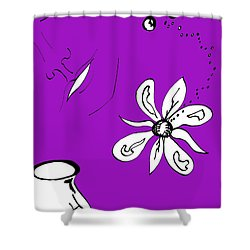 Serenity In Purple Shower Curtain by Mary Mikawoz