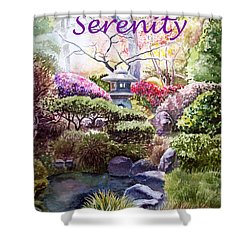 Serenity Shower Curtain by Irina Sztukowski