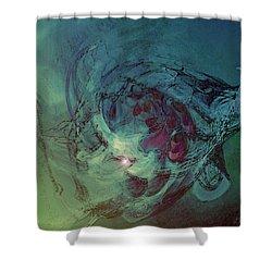 Serpent Head Shower Curtain by Linda Sannuti