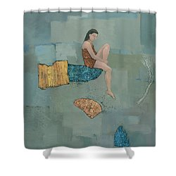 Set Adrift Shower Curtain by Steve Mitchell