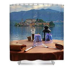 Set Table With A View Shower Curtain by Joana Kruse