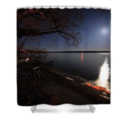 Setting Moon Shower Curtain by Everet Regal