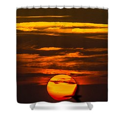 Setting Sun Flyby Shower Curtain