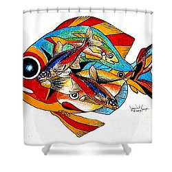 Seven Fish Shower Curtain