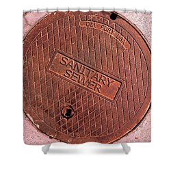 Sewer Cover Shower Curtain by Bill Owen