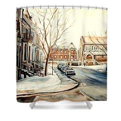 Shaar Hashomayim Westmount Montreal  Shower Curtain by Carole Spandau