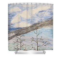 Shower Curtain featuring the painting Shades Of Nature by Sonali Gangane