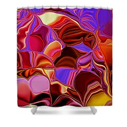 Shades Of Satin Shower Curtain by Renate Nadi Wesley