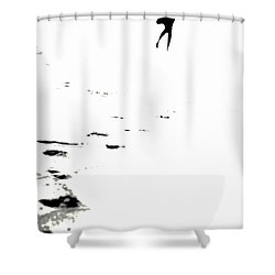 Shadow Footprints Of My Past Shower Curtain by Jenny Rainbow