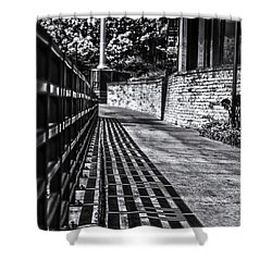 Shower Curtain featuring the photograph Shadow Walk by Tom Gort