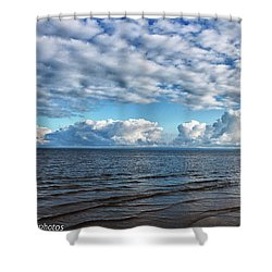 Shower Curtain featuring the photograph Shallow Waves by Rachel Cohen