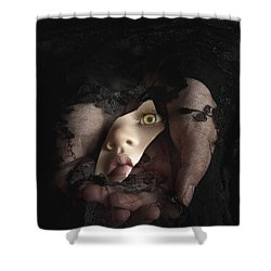 Shattered Into Pieces Shower Curtain by Margie Hurwich