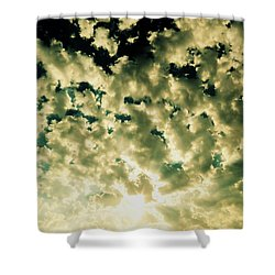 Shattered Shower Curtain by Ramona Johnston